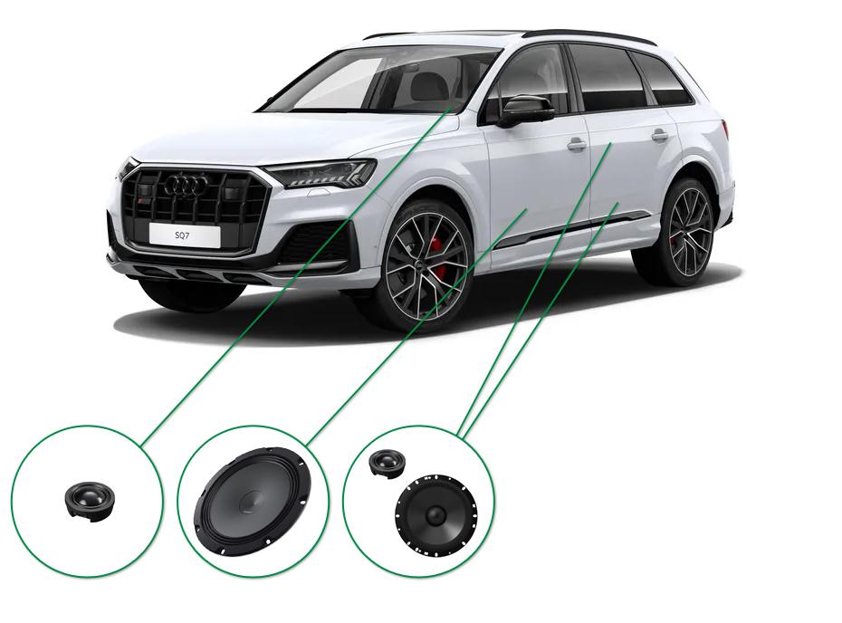 Audi Q7 audio upgrade set 7