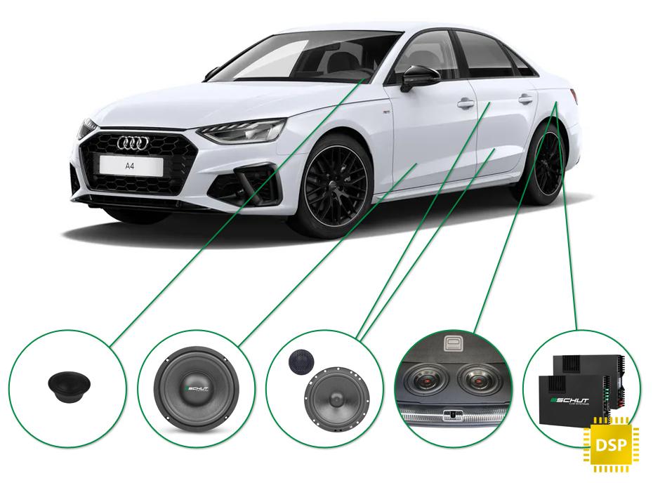 Audi A4 audio upgrade set 1