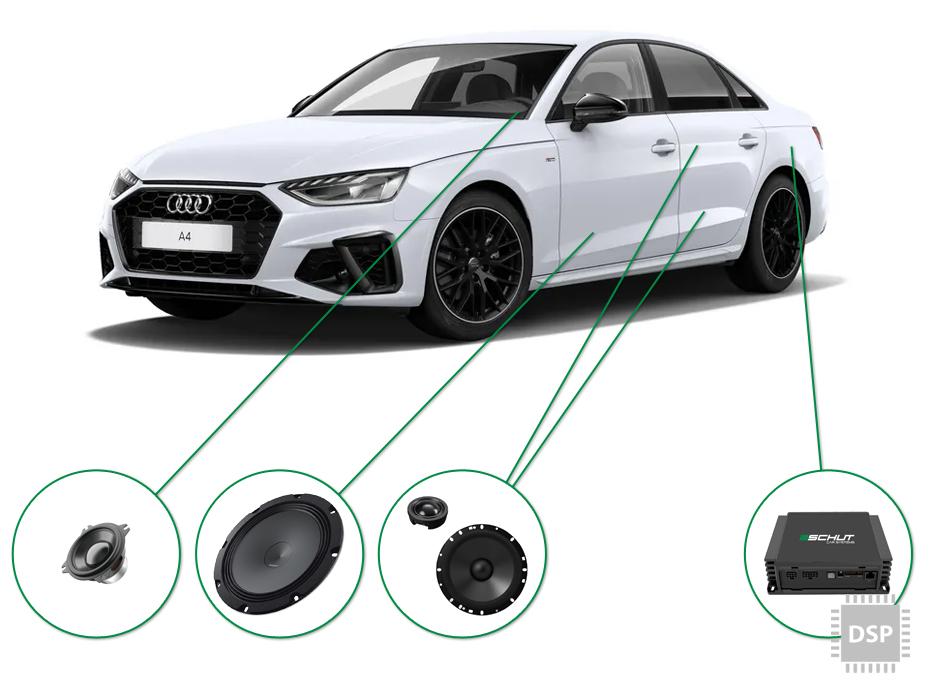 Audi A4 audio upgrade set 4