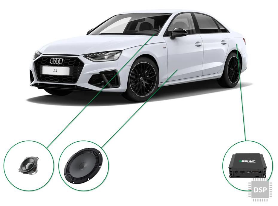 Audi A4 audio upgrade set 5