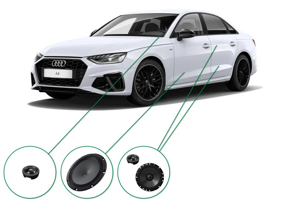 Audi A4 audio upgrade set 7