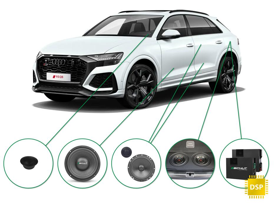 Audi Q8 audio upgrade set 1