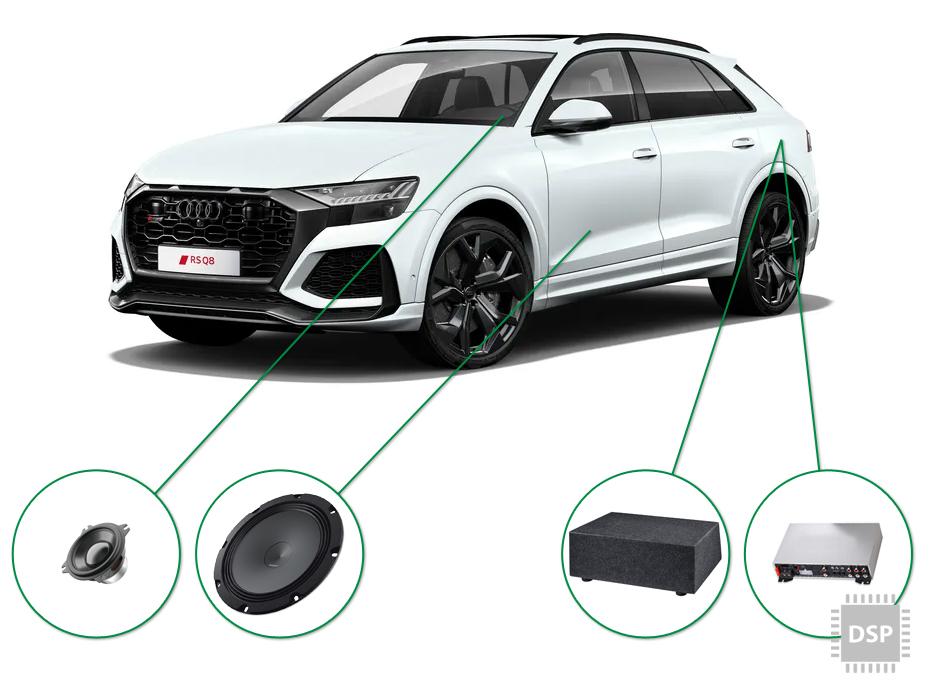 Audi Q8 audio upgrade set 3
