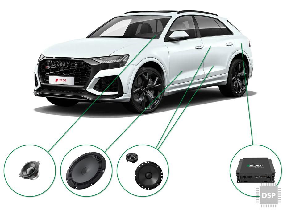 Audi Q8 audio upgrade set 4