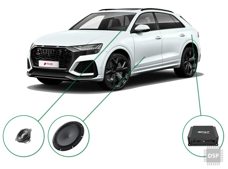 Audi Q8 audio upgrade set 5
