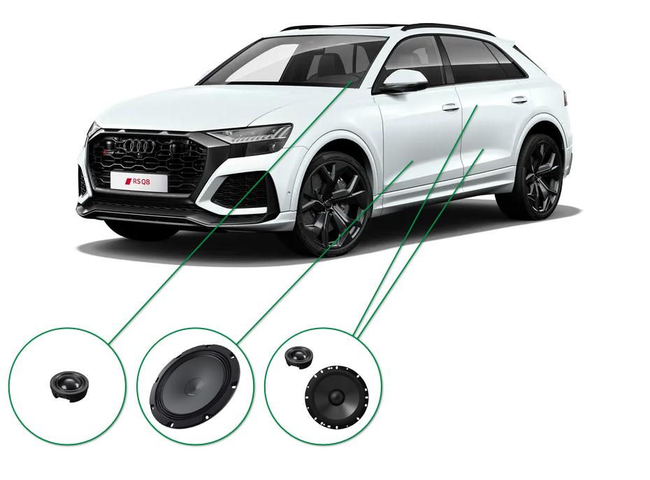 Audi Q8 audio upgrade set 7