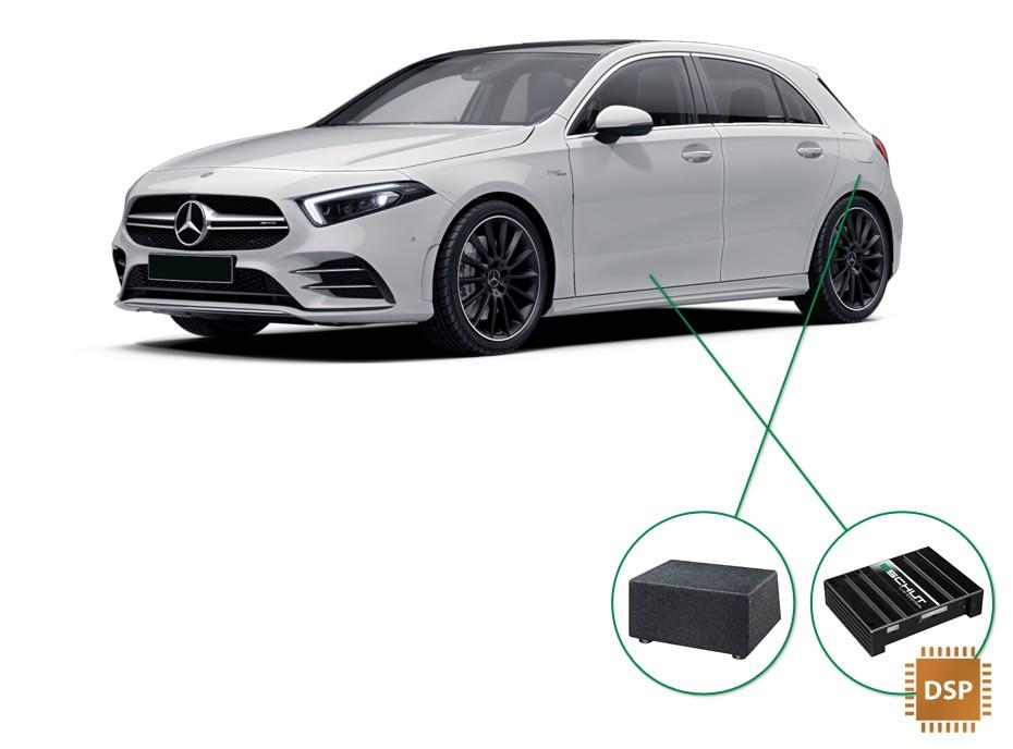 Mercedes A-Klasse audio upgrade set 4