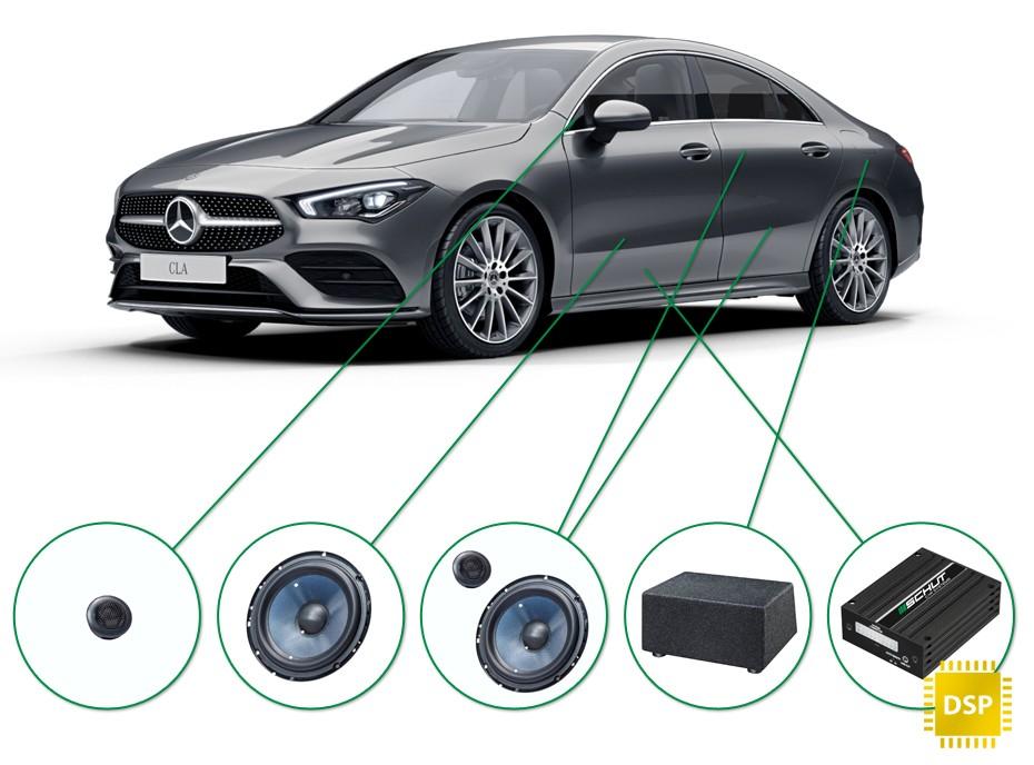 Mercedes CLA audio upgrade set 2