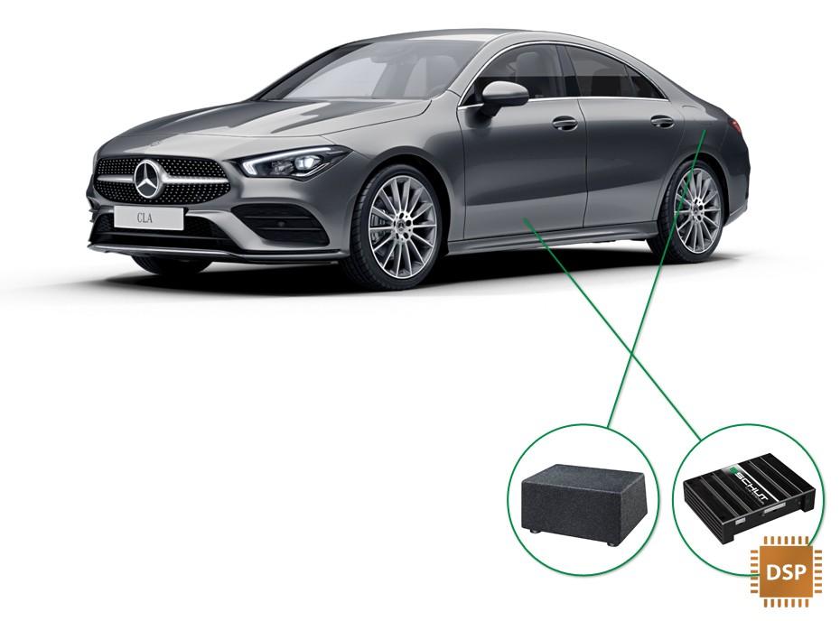 Mercedes CLA audio upgrade set 4