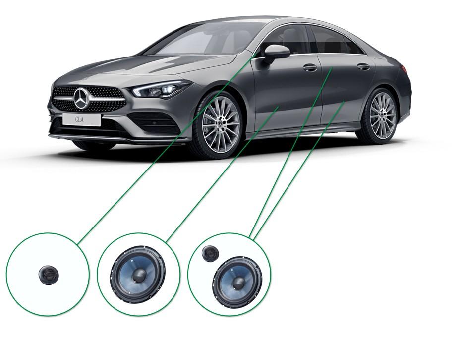 Mercedes CLA audio upgrade set 5