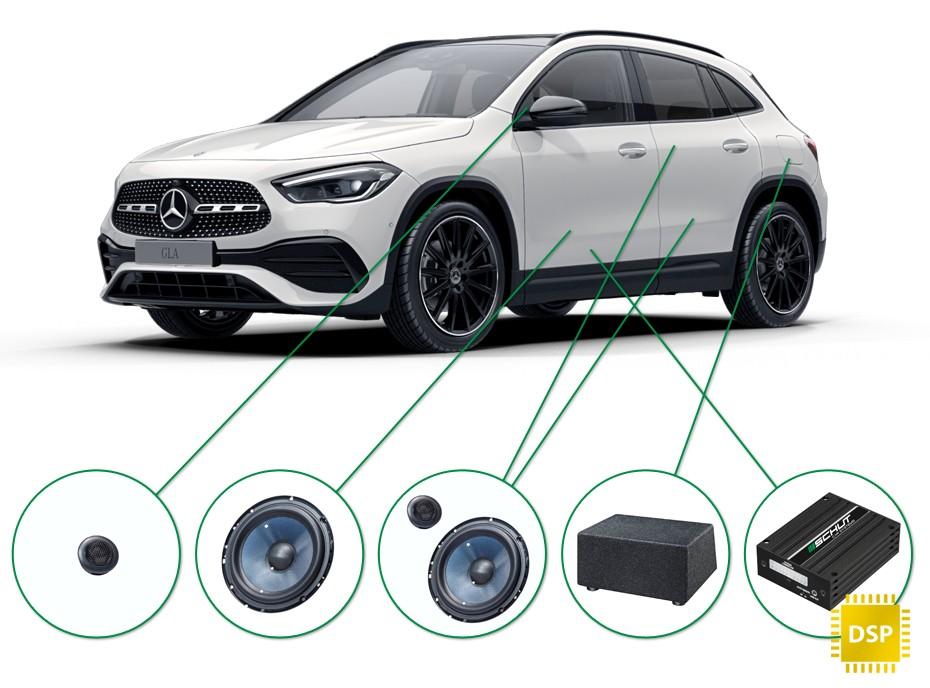 Mercedes GLA audio upgrade set 2