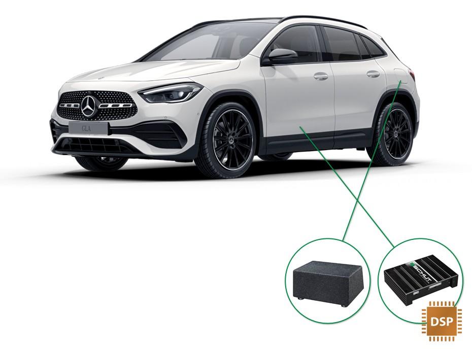 Mercedes GLA audio upgrade set 4