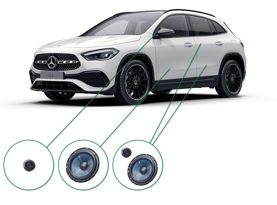 Mercedes GLA audio upgrade set 5