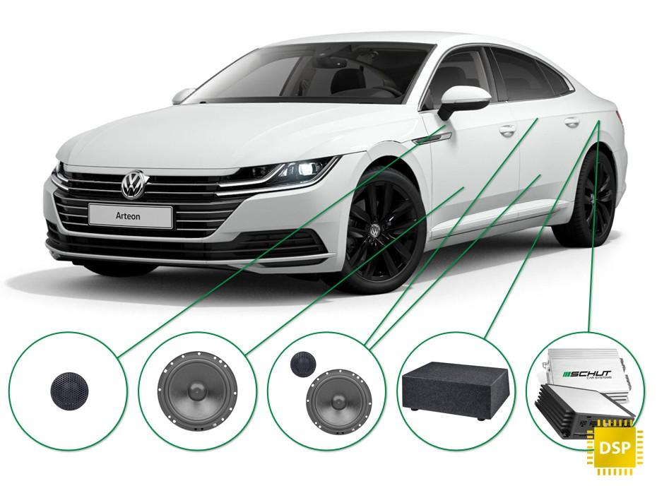VW Arteon audio upgrade set 1