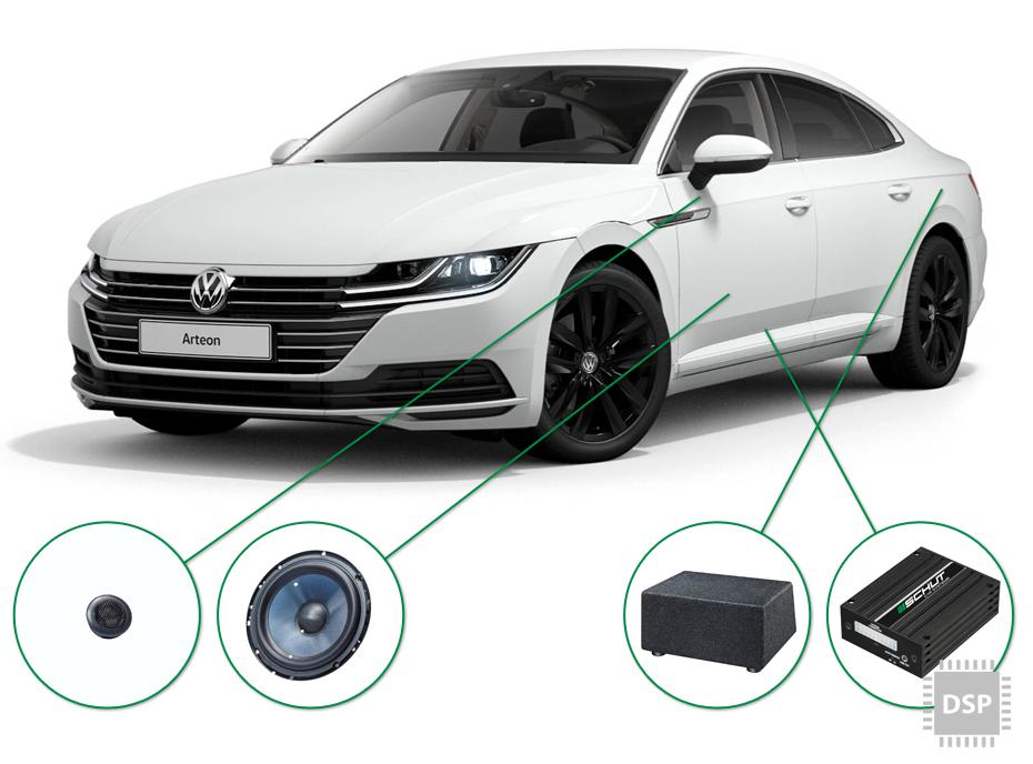 VW Arteon audio upgrade set 3