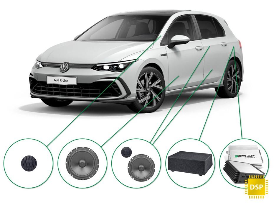 VW Golf  audio upgrade set 1