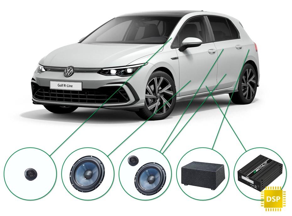 VW Golf  audio upgrade set 2