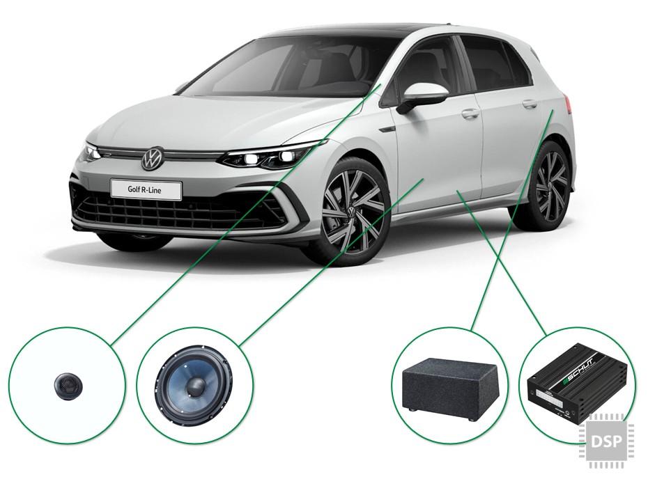 VW Golf  audio upgrade set 3