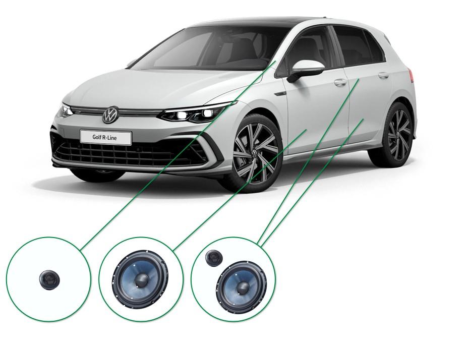 VW Golf  audio upgrade set 5
