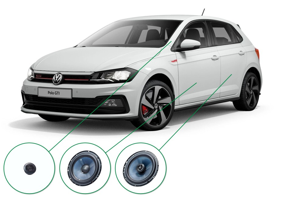 Volkswagen Polo audio upgrade set 5