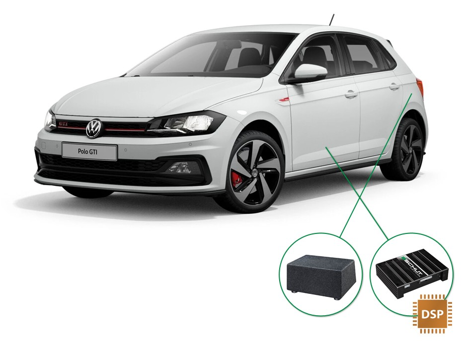 Volkswagen Polo audio upgrade set 4