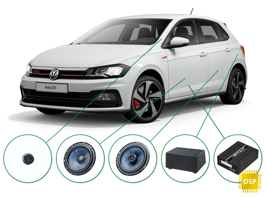 Volkswagen Polo audio upgrade set 2
