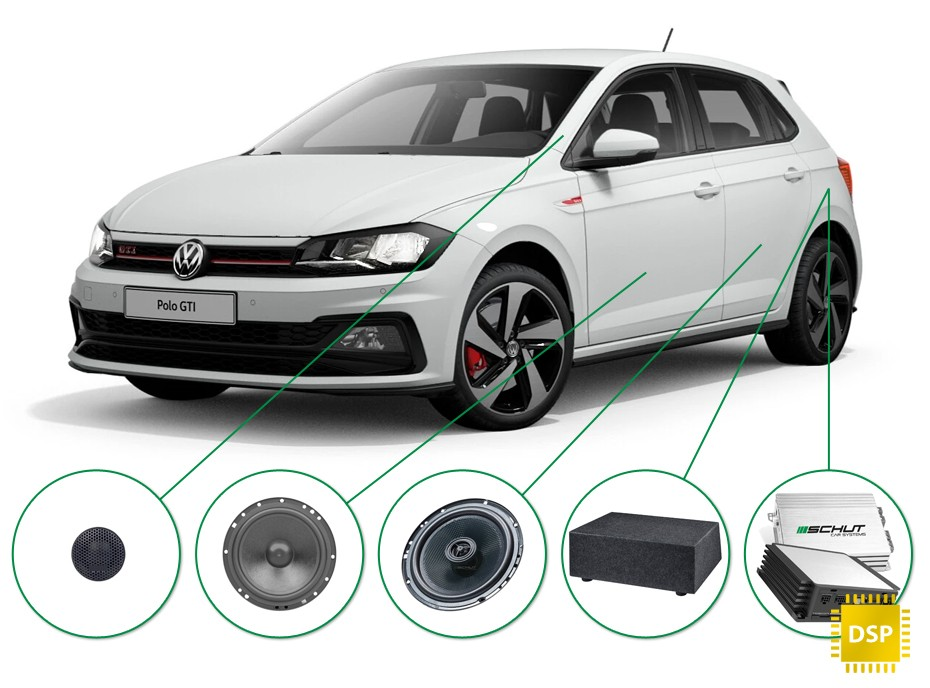 Volkswagen Polo audio upgrade set 1