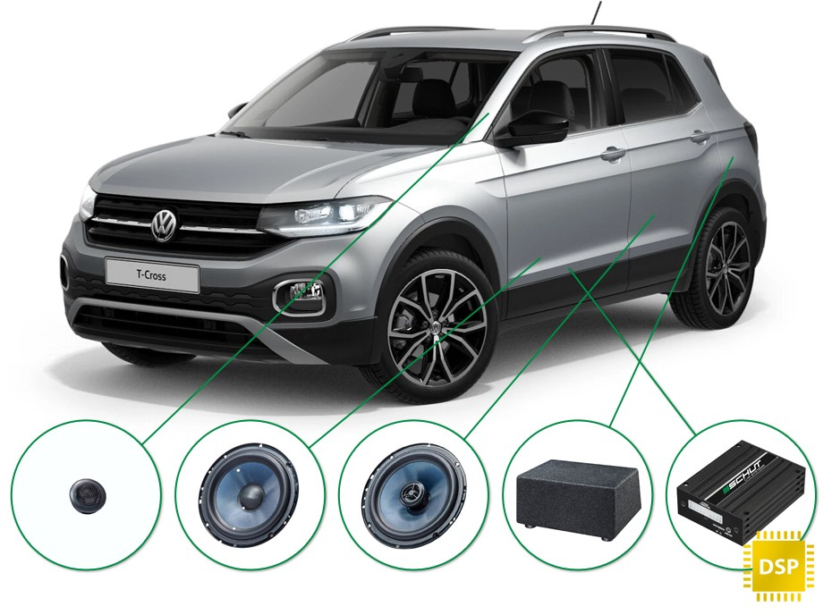 VW T-Cross audio upgrade set 2