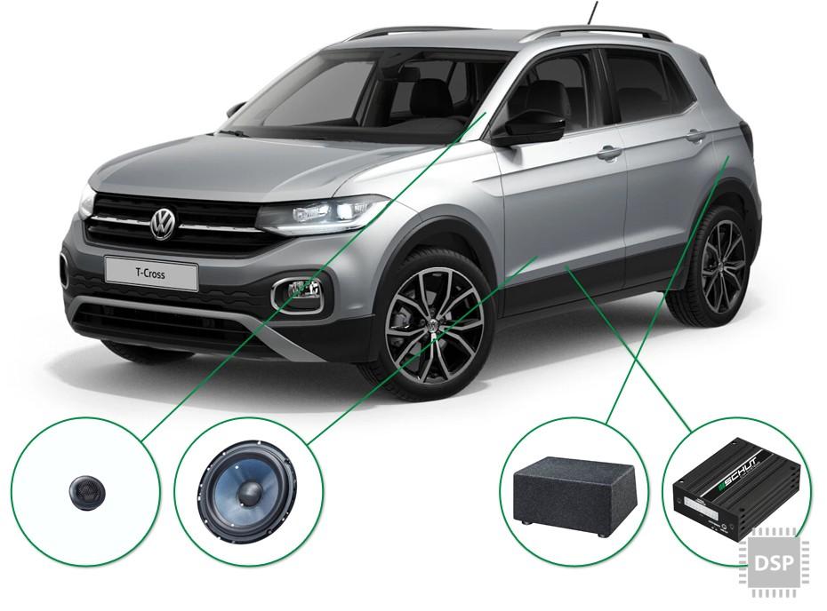 VW T-Cross audio upgrade set 3