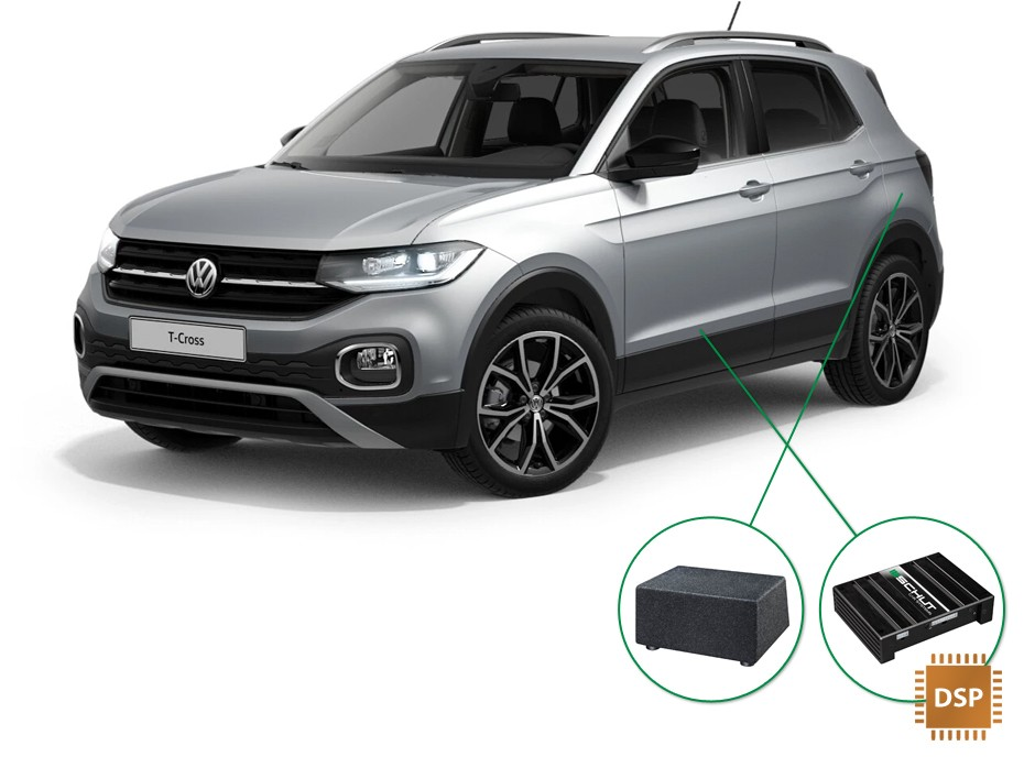 VW T-Cross audio upgrade set 4