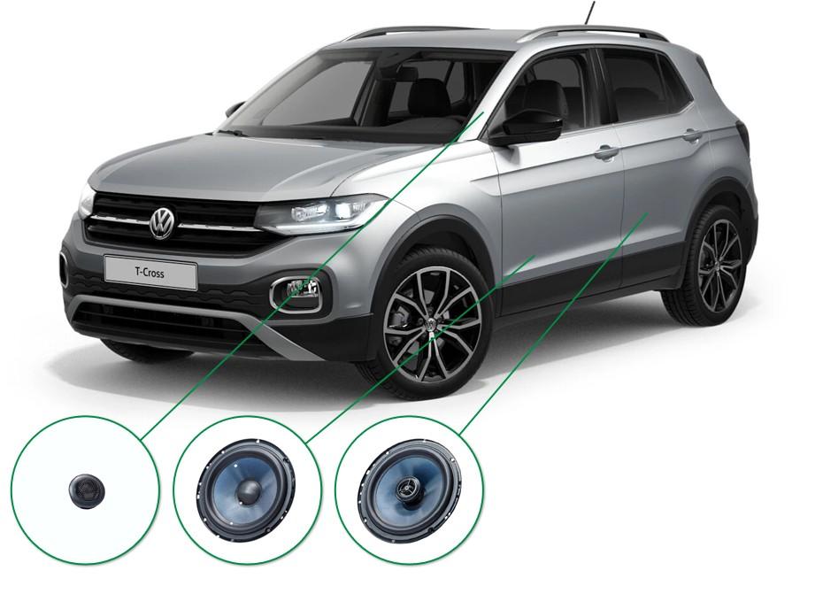 VW T-Cross audio upgrade set 5
