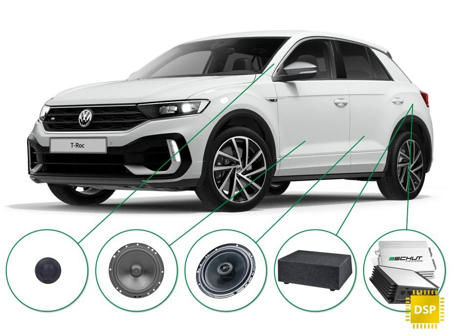 VW T-Roc audio upgrade set 1