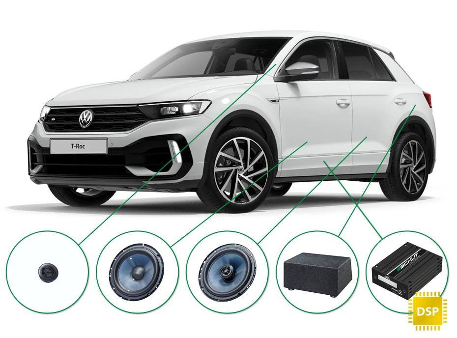 VW T-Roc audio upgrade set 2