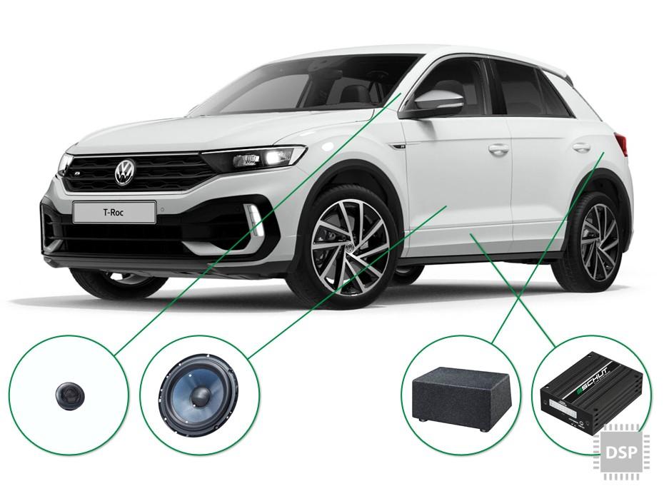 VW T-Roc audio upgrade set 3