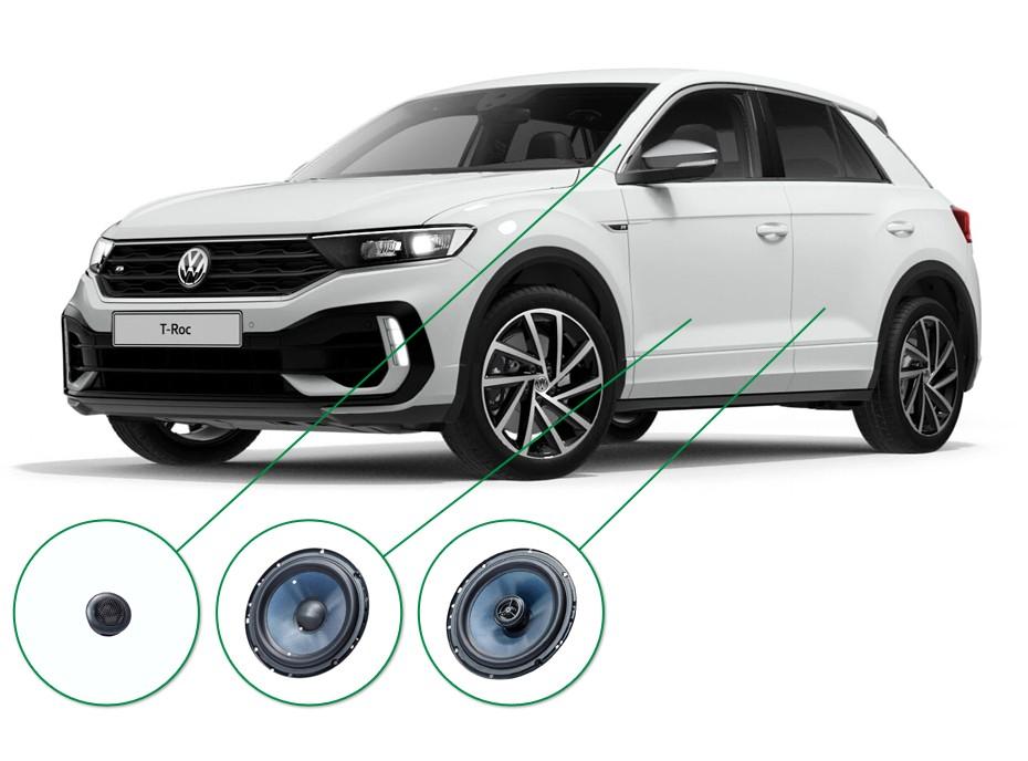VW T-Roc audio upgrade set 5