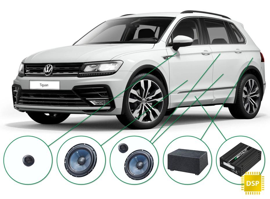 VW Tiguan audio upgrade set 2