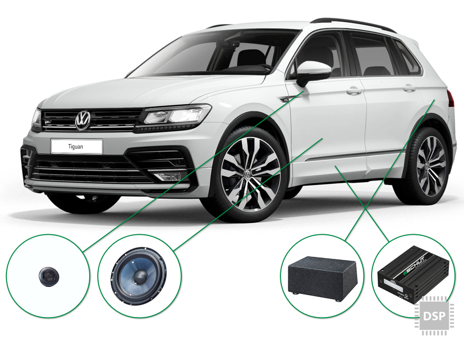 VW Tiguan audio upgrade set 3