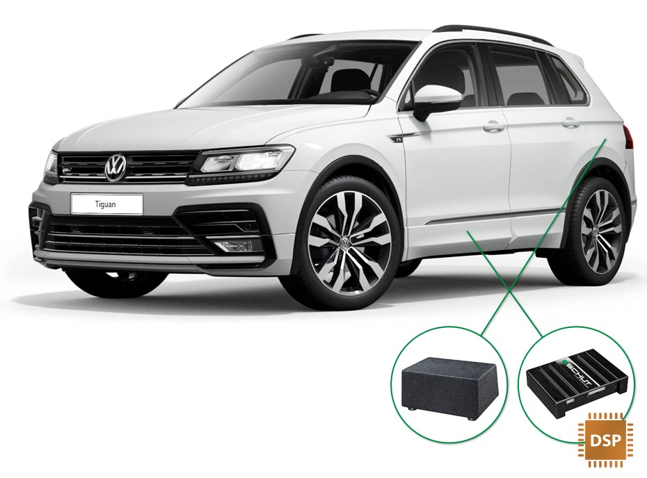 VW Tiguan audio upgrade set 4