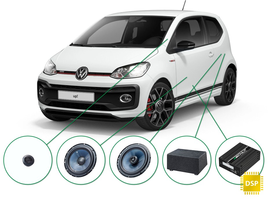 VW up! audio upgrade set 2