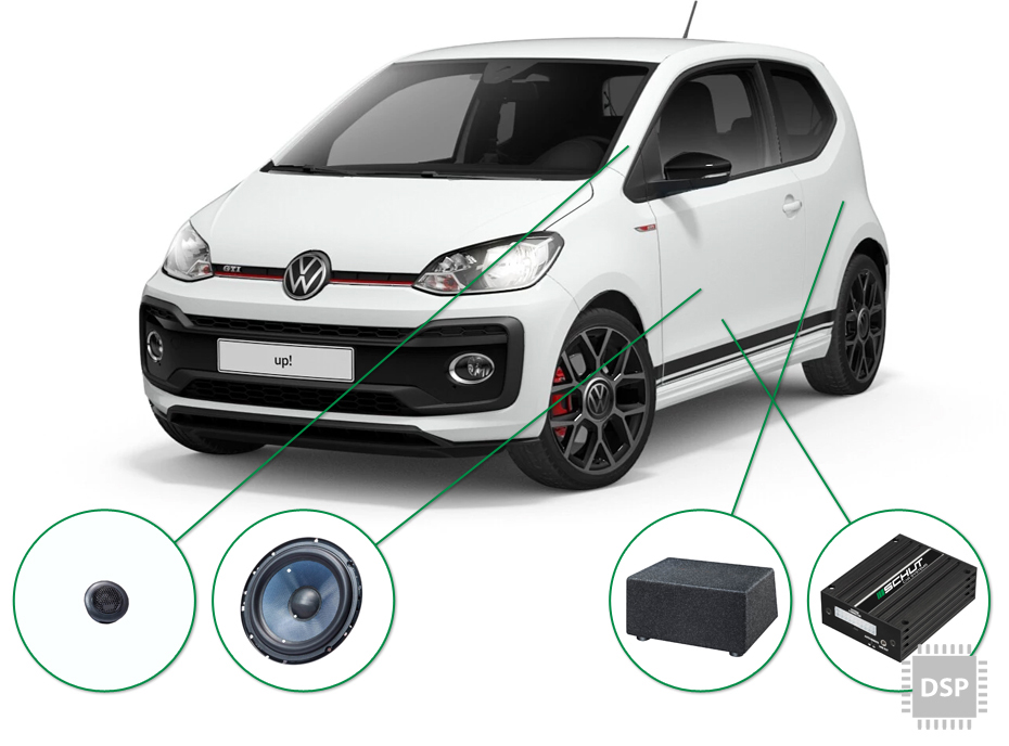 VW up! audio upgrade set 3