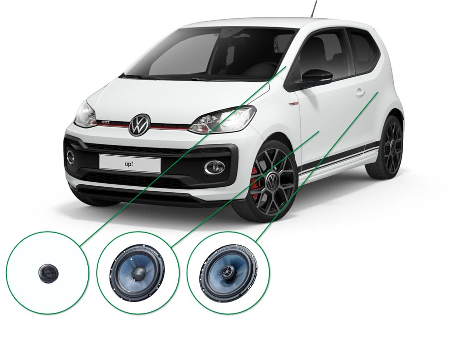 VW up! audio upgrade set 5