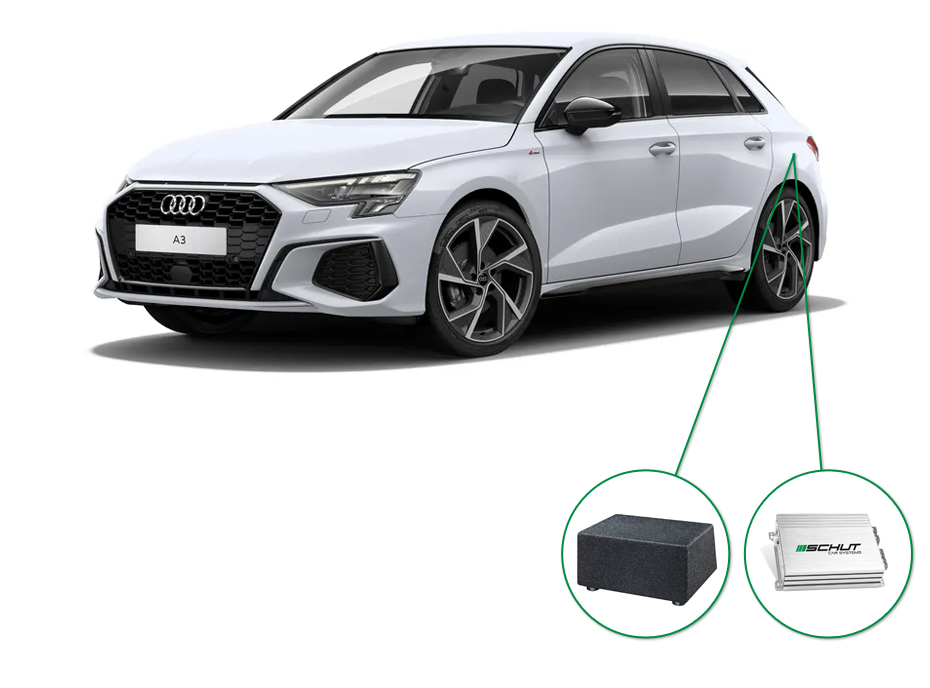 Audi A3 audio upgrade set 8