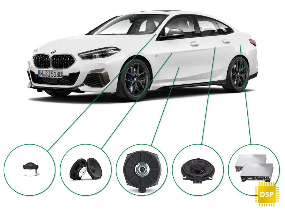 BMW 2 audio upgrade set 1