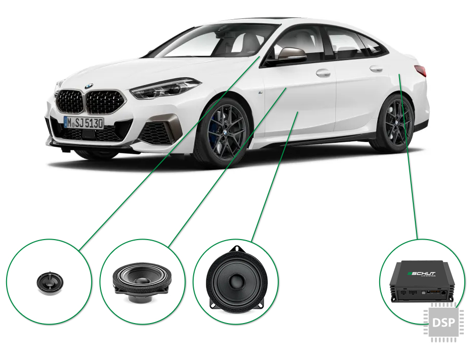 BMW 2 audio upgrade set 2