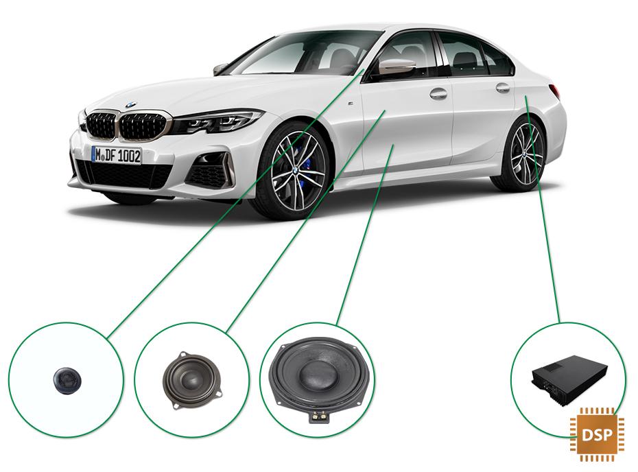 BMW 3 audio upgrade set 3