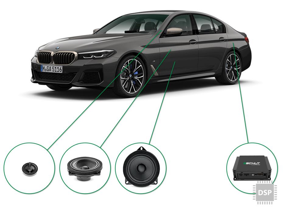 BMW 5 audio upgrade set 2