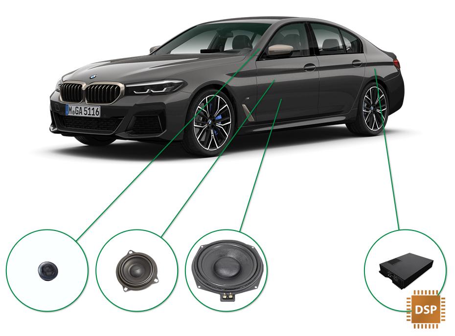BMW 5 audio upgrade set 3