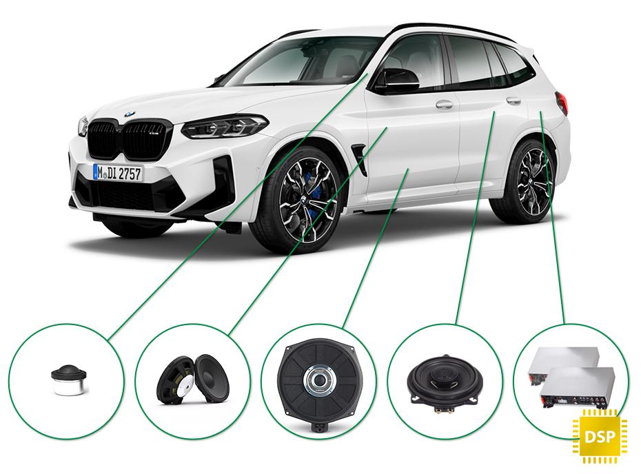 BMW X3 audio upgrade set 1