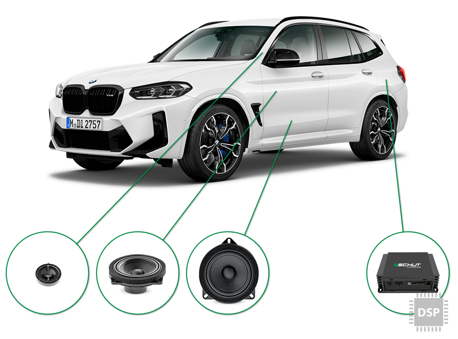 BMW X3 audio upgrade set 2