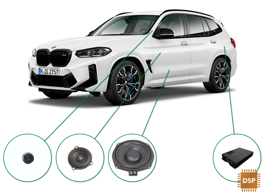 BMW X3 audio upgrade set 3